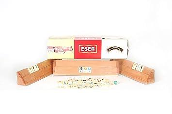 Eser Wooden Okey Board Game Turkish Rummikub Rummy Solid Wood