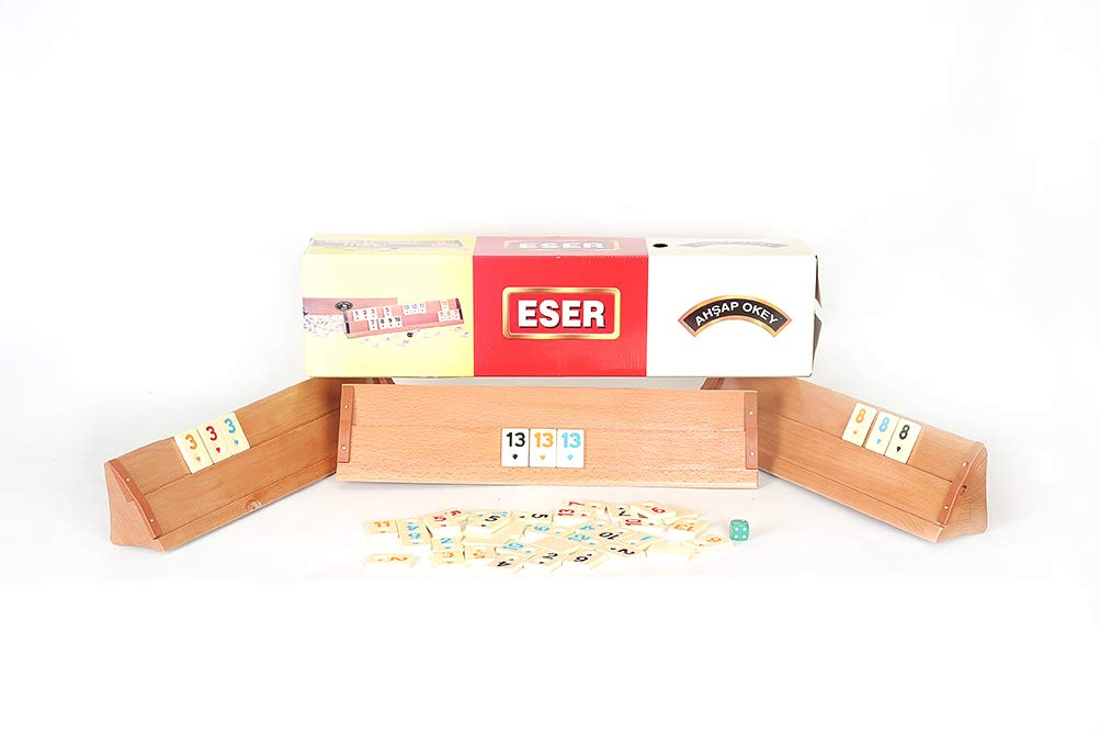 Sparland original Turkish Okey game, Rummy, wooden rummy, wood
