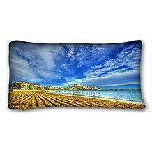 "Custom Characteristic ( Landscapes Peniskola Castellon De spain beach ) Pillowcase Cover 20""X36"" One Side suitable for King-bed PC-Green-21394"