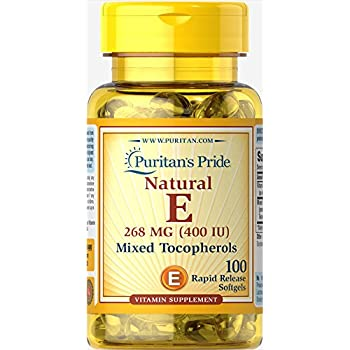 Puritan's Pride Vitamin E-400 iu Mixed Tocopherols Natural-100 Softgels