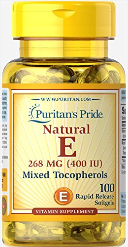 400 Iu Mixed Tocopherols - Puritan's Pride Vitamin E-400 iu Mixed Tocopherols Natural-100 Softgels