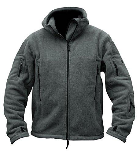 Men's Tactical Fleece Jacket (XX-Large,Gray)