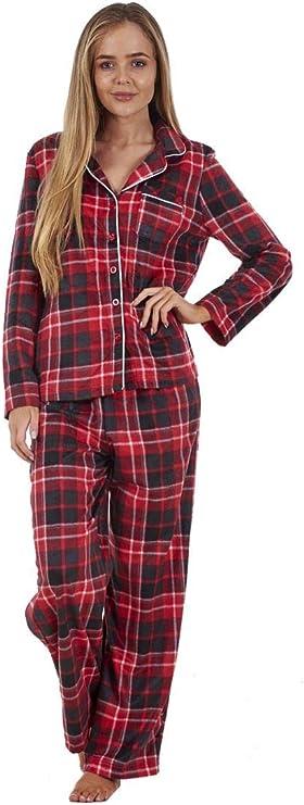 Conjunto de Pijama para Mujer - Franela de algodón - Camisa Abotonada