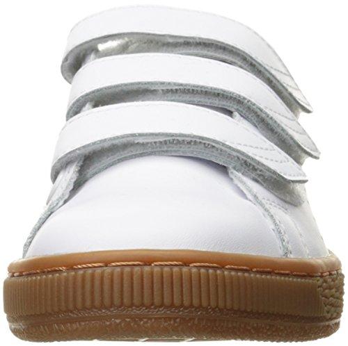 M Puma 10 bianco US Fashion uomo da Citi Cachi da classico basket vintage 5 Sneaker Cestino q86A7gH