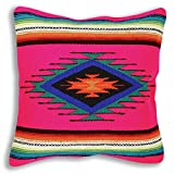 Serape Throw Pillow Covers, 18 X 18, Hand Woven in Southwest and Native American Styles. 10