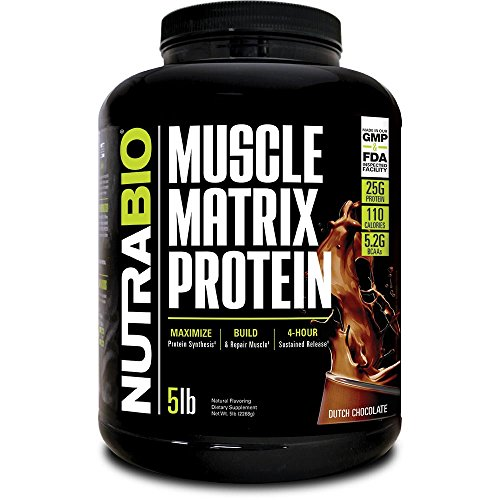 NutraBio Muscle Matrix - Whey Protein Blend (Chocolate, 5 Pounds) (Best Mass Supplement 2019)