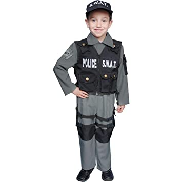 toddler police swat team halloween costume sz 4t - Swat Costumes For Halloween