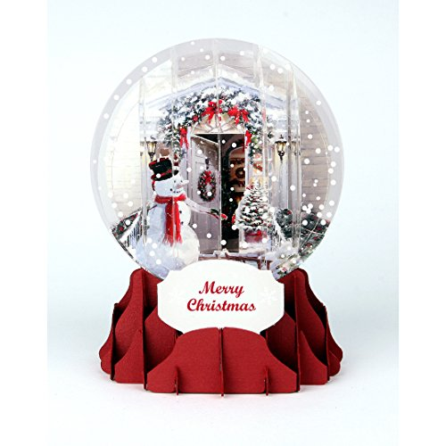 - Christmass card pop-up 3D snow globe - Holiday Door