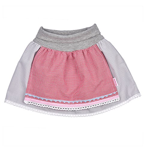 Baby Girl Trachten Skirt, Bavarian Style. with Elastic Cuffs and Sewed on Apron. 12-18 Months, 31-34 '', Great Present