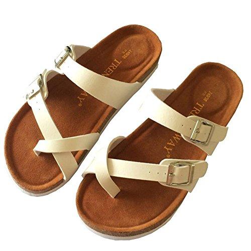 Pantofole Nuove Esterni Da Sughero Pantofole Interni Per In 42 XING 43 Comode Black Ed GUANG Doppia Spiaggia Fibbia Scarpe Con White 5wqxAp