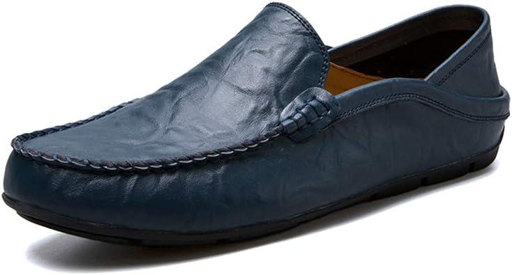 Homme Mocassins Chaussures de conduite Moccasin Handmade Plat Décontracté Chaussures Lacet Grande Taille