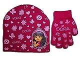 Dora The Explorer Girls Knit Short Hat and Glove Set