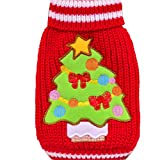 Christmas Dog Clothes, AMA(TM) Pet Puppy Doggie Cat Knit Sweater Jacket Coat Hoodie Apparel (S, Red)