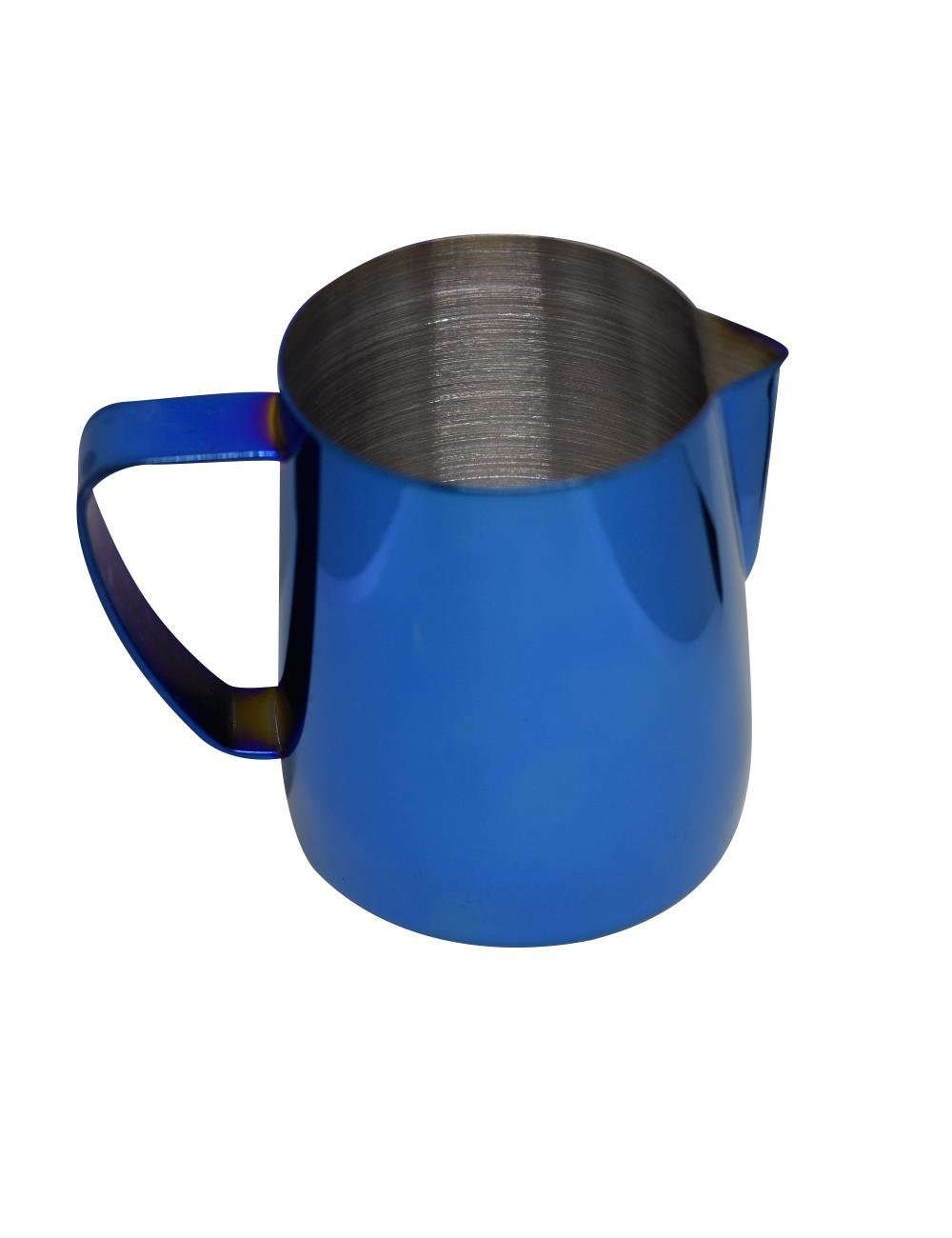 Latte Art | Stainless Steel Milk Frothing Pitcher Cobalt Blue 12 oz Titanium Mirror Finish