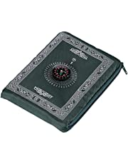 Hitopin Reisgebedsmat met kompaszak formaat draagtas en bevestigd kompas biddeken draagbaar nylon waterdicht materiaal gemakkelijk draagtas bidmat 60 * 100 cm