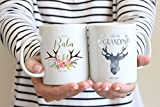 Product review for Pregnancy Announcement Mugs - Great Grandparents Mug - Baba Mug - Grandpa to Be - 100% Ceramic - Handmade and Custom - Personalized Date - Family Gift
