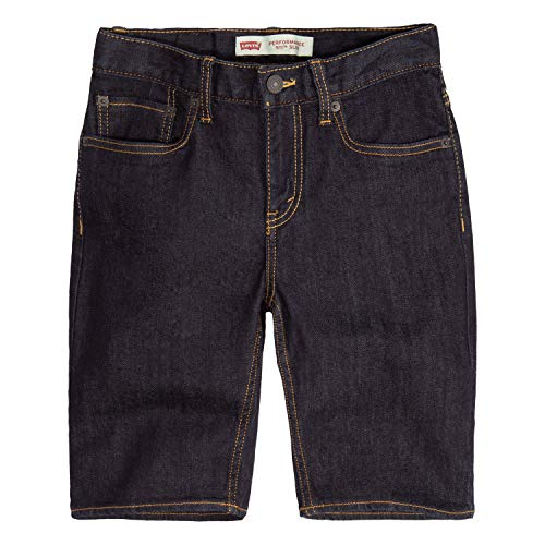 Levi's Boys' Big 511 Slim Fit Performance Shorts, ice Cap, 16 (Boys Jean Shorts Size 16)