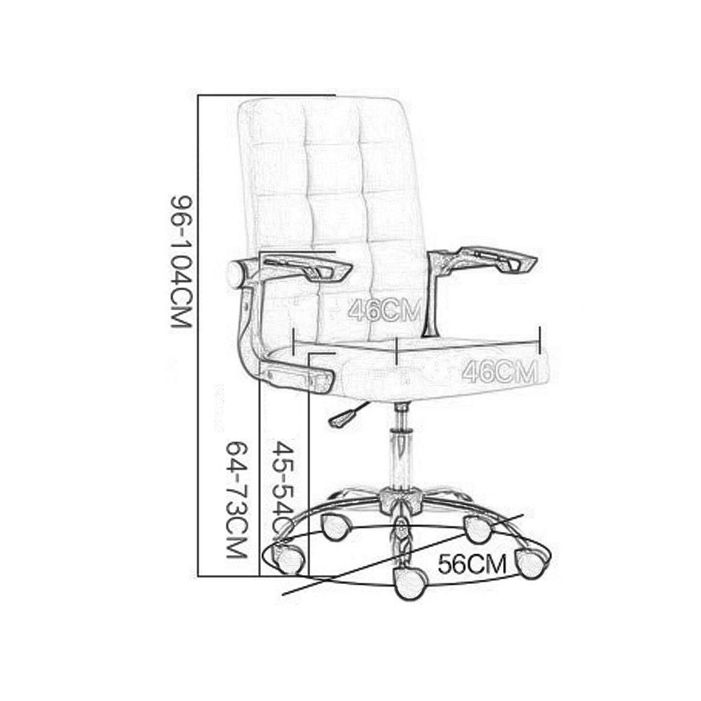 Stol kontorsstol skrivbordsstol ergonomisk kontorsstol skrivbordsstol, dator kontor stol med vadderat fotstöd, bekväm och pålitlig, 3 färger (färg: PINK) Rosa
