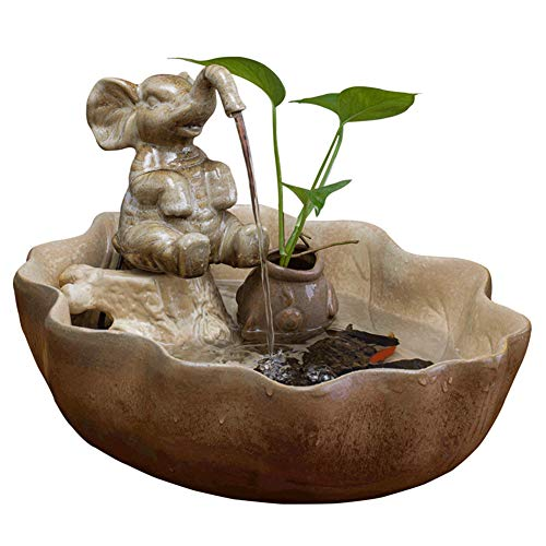 - BEIQIHHY Indoor Water Fountains - Small Fish Tank - Handmade Waterfall for Ceramics - Feng Shui Ornaments Home Decoration for Living Room/Study/Office