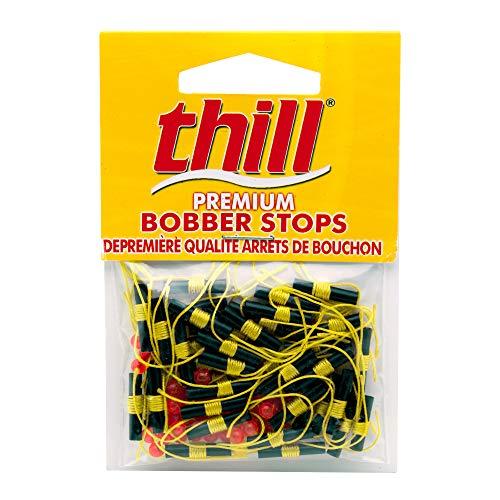 Thill Premium Bobber Stops -  Fluorescent Yellow - 40