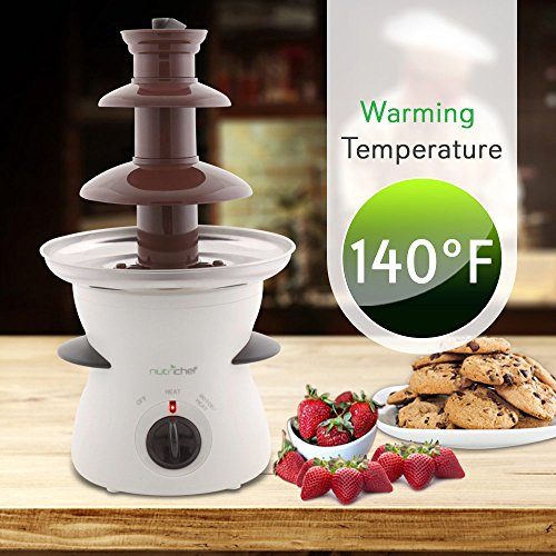 3 Tier Chocolate Fondue Fountain Electric Stainless