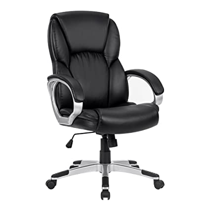 72ee8de849c LANGRIA Mid-Back Faux Leather Computer Executive Office Chair ...