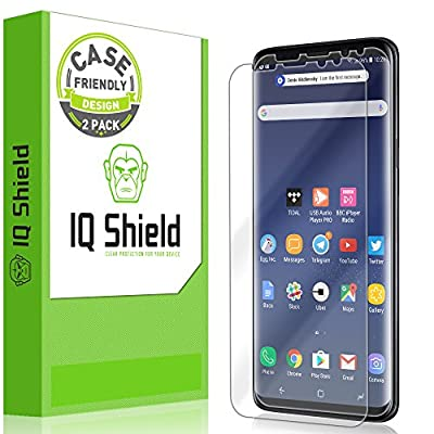 Galaxy S9 Screen Protector [2-Pack], IQ Shield LiQuidSkin Full Coverage Bubble-Free [Case-Friendly] Screen Protector for Galaxy S9 HD Clear Film