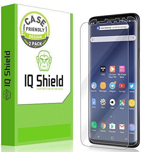 Galaxy S9 Screen Protector [2-Pack], IQ Shield LiQuidSkin Full Coverage Bubble-Free [Case-Friendly]...