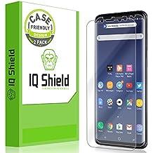 Galaxy S9 Screen Protector [2-Pack], IQ Shield LiQuidSkin Full Coverage Bubble-Free [Case-Friendly] Screen Protector for Galaxy S9 HD Clear Film