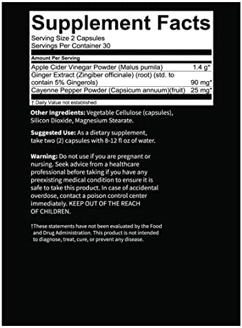 KompleX Nutrition Organic Apple Cider Vinegar Capsules, Improve Digestion and Detox, ACV Powder with Mother, 60 Vegan and Gluten-Free Supplement Pills 5