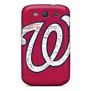 Shock Absorbent Hard Phone Covers For Samsung Galaxy S3 With Custom Nice Washington Nationals Series SherriFakhry