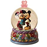 Disney Traditions designed by Jim Shore for Enesco Disney's Mickey & Minnie Mouse Waterball 4.25-inch