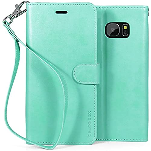 Galaxy S7 Edge Case, BUDDIBOX [Wrist Strap] Premium PU Leather Wallet Case with [Kickstand] Card Holder and ID Sales