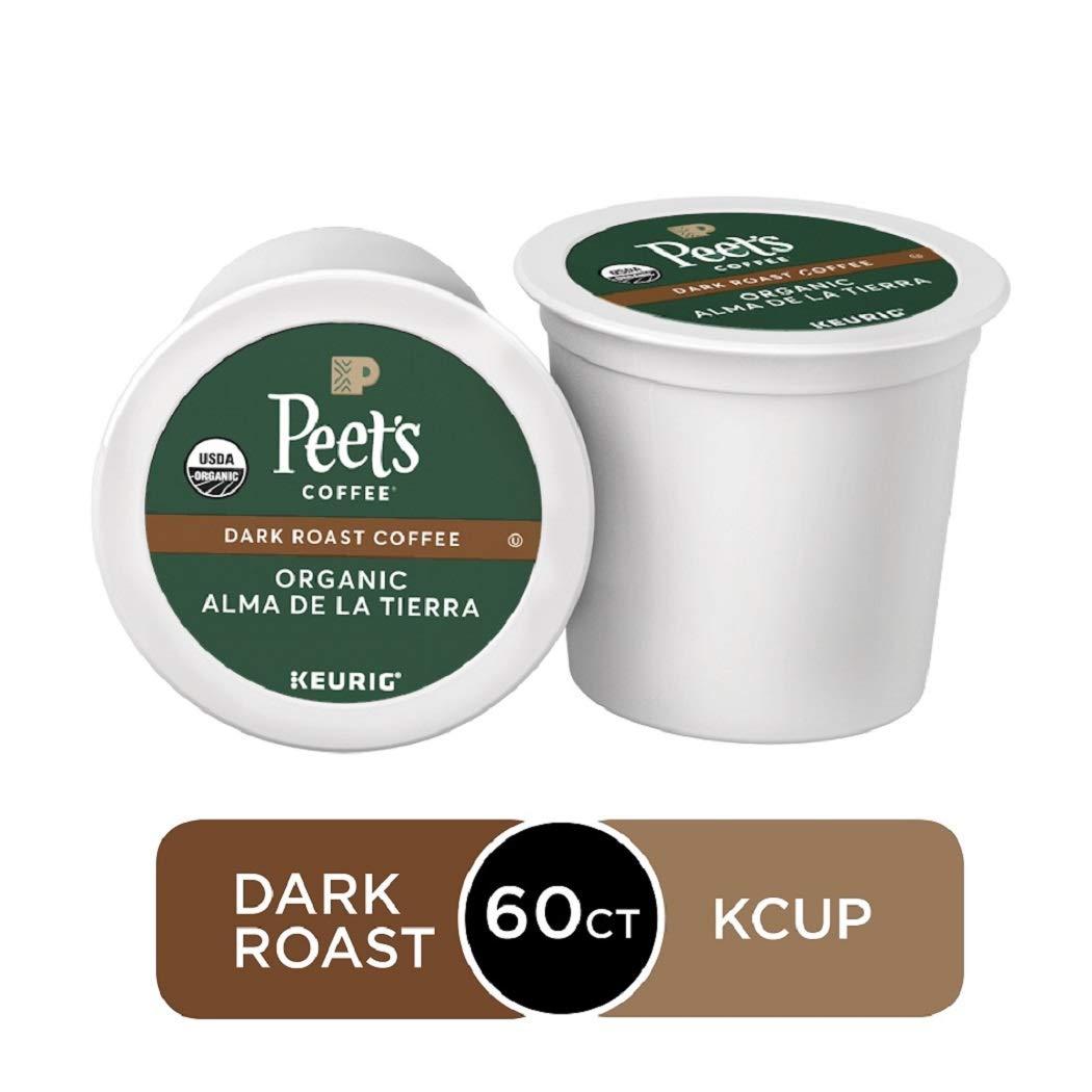 Peet's Coffee Organic Alma De La Tierra, Dark Roast, 60 Count Single Serve K-Cup Coffee Pods for Keurig Coffee Maker
