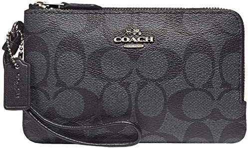 COACH Signature PVC Double Corner Zip