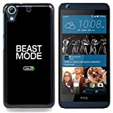 - Beast Mode Exercise Rogan Black Text - Slim Guard Armor Phone Case- For HTC Desire 626 & 626s Devil Case