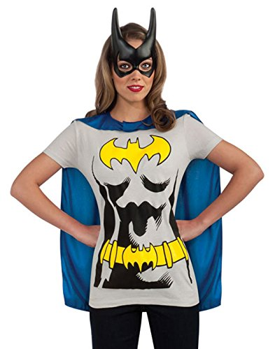 Rubies DC Comics Batgirl T-Shirt with Cape and Mask, Black, X-Large ()