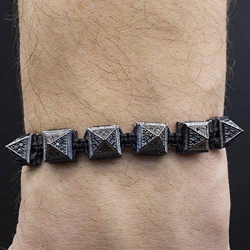 Bracelet for Men, Shamballa, Hematite Crystal, Unisex, Adjustable Size up to 11