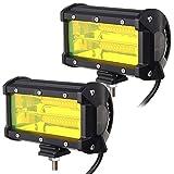 TOOGOO 2PCS Waterproof 5inch 72W LED Work Light for Driving Fog Lamp Offroad Truck SUV