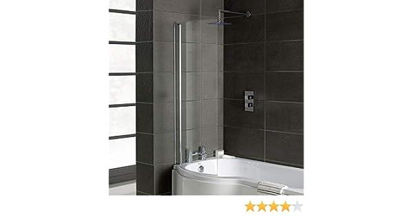 Home Standard® - Mampara de baño Curvada cromada para bañeras en ...
