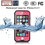 Redpepper-Waterproof Case for iPhone 6/6s 4.7 inch Screen SnowPrrof ShockProof DirtProof Case Cover (Pink)