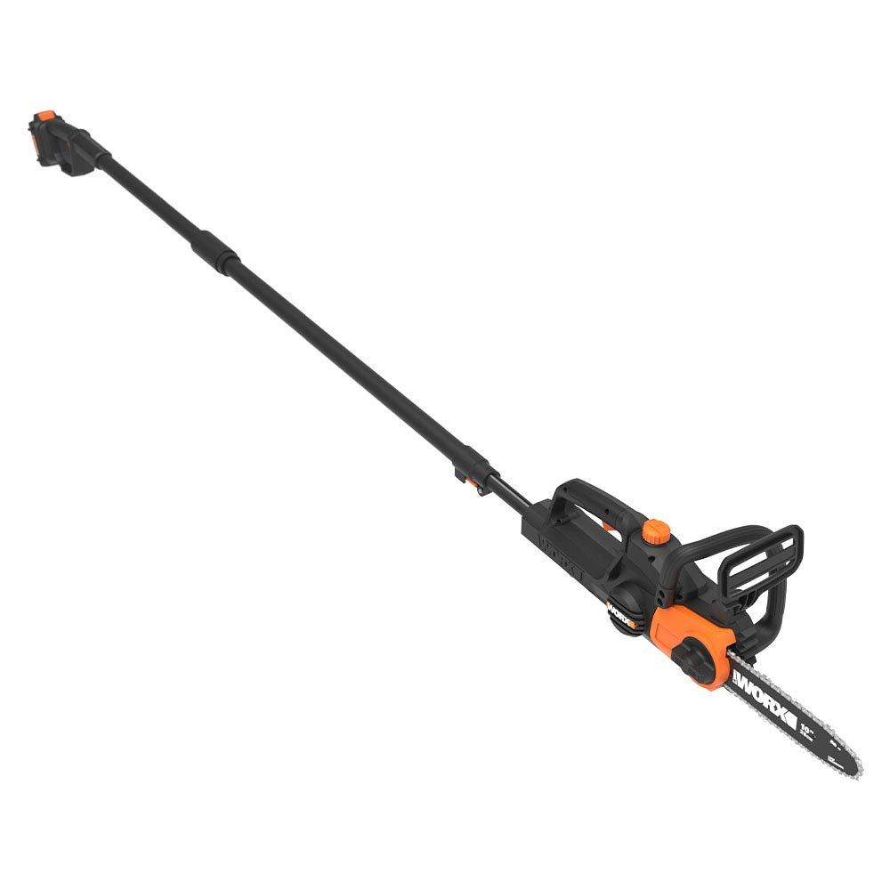 WORX WG323 20V 10'' Cordless Pole/Chain Saw with Auto-Tension, Black by WORX