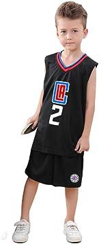 REDLIFE Camiseta De Baloncesto para Niños,LA Clippers #2 ...