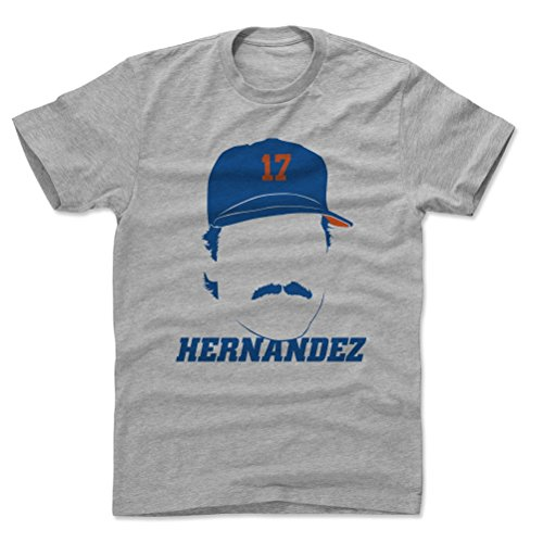 500 LEVEL Keith Hernandez Cotton Shirt (X-Large, Heather Gray) - New York Mets Men's Apparel - Keith Hernandez Silhouette B