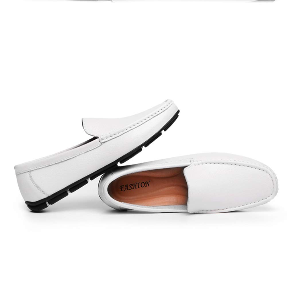 Z.SUO Mens Premium Leather Casual Slip on Loafers Breathable Driving Shoes Fashion Slipper