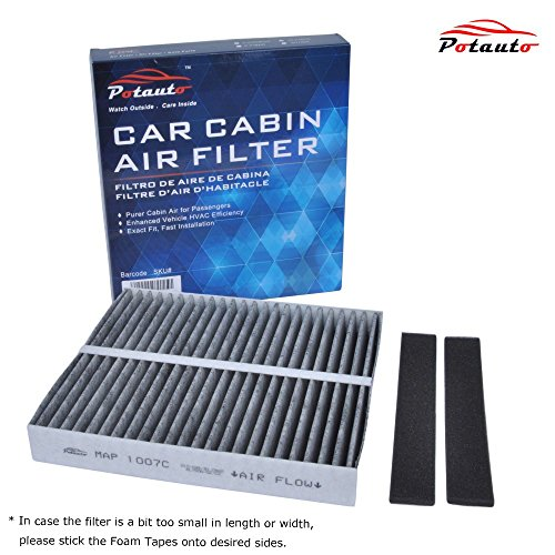 POTAUTO MAP 1007C Heavy Activated Carbon Car Cabin Air Filter Replacement compatible with INFINITI, MITSUBISHI, NISSAN