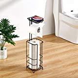 ZCCZ Toilet Paper Holder Stand with Reserve, Free