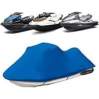 Funda de Lancha Motora, 210D Impermeable Oxford UV Protección Jet Ski Cover, Se Adapta a Motos de Agua 136'' a 145…