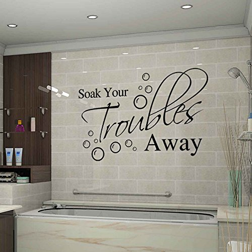 Bathroom Wall Stickers For Soak Your Troubles Away by KiKi Monkey (Image #4)