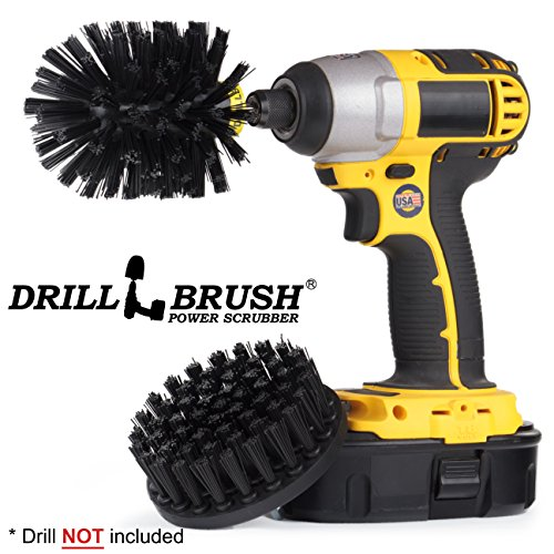 New Quick Change Shaft Ultrastiff Heavy Duty Stone Cleaning Brush by Drillbrush by Drillbrush
